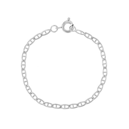 Silver Plated Plain Link Chain Infants Toddlers Bracelet 5