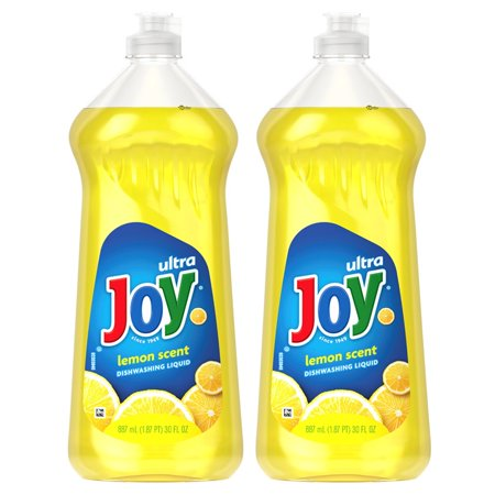 (2 Pack) Joy Ultra Dishwashing Liquid, Lemon, 30 fl oz