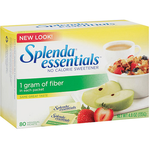 Splenda One Gram of Fiber Per Packet Sweetner, 80 ct