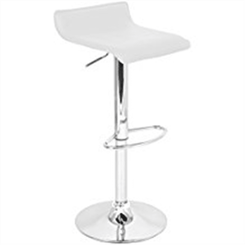Lumisource Ale Bar Stool, White by