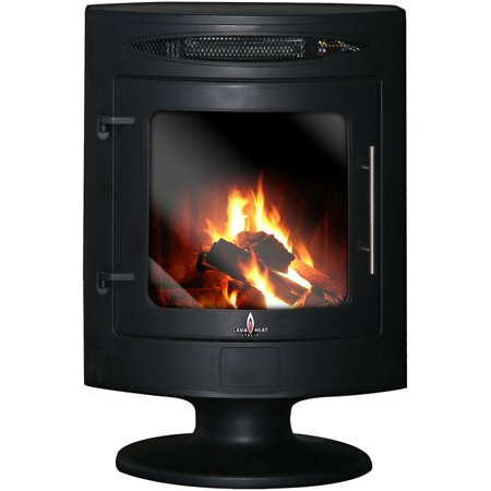 Pizzo Electric Fireplace Heater - Black Steel Finish