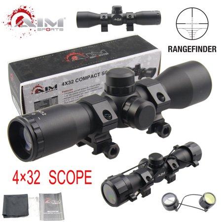 AIM SPORTS TACTICAL SERIES 4X32 COMPACT SCOPE W/ RANGEFINDER