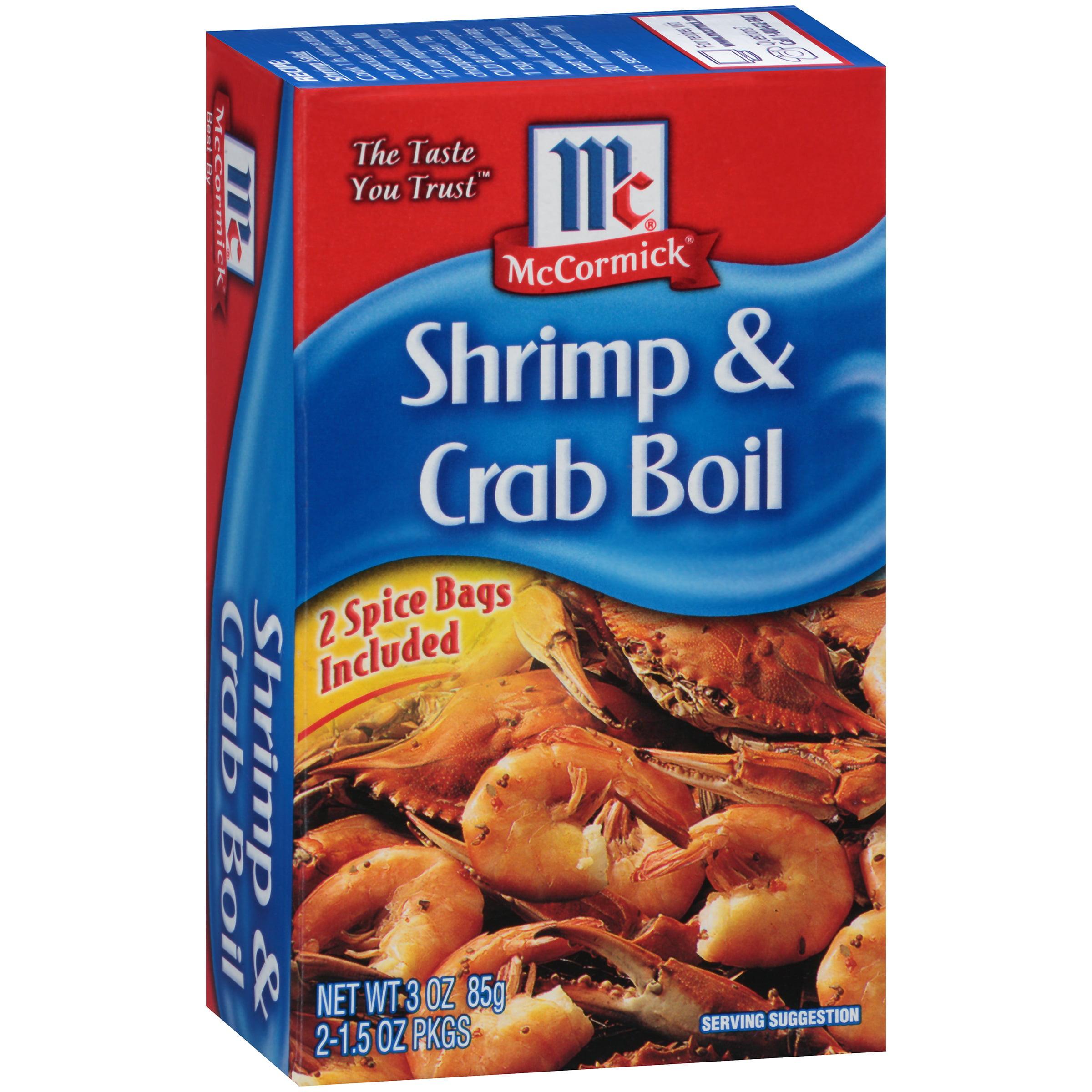 McCormick Golden Dipt Shrimp & Crab Boil, 3 oz. Box by McCormick & Co, Inc.