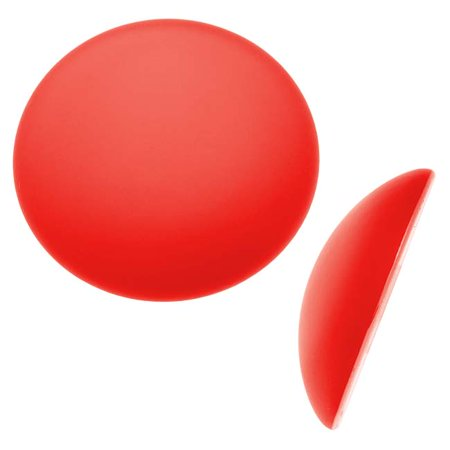 Lunasoft Glowing Lucite Cabochon 24mm Round - Matte Cherry Red (1)
