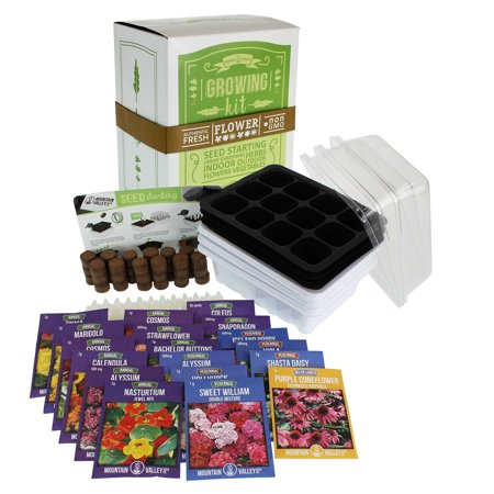 - Annual Flower Garden Seed Starter - Premium Kit - 18 Varieties of Flowers & Plants: Poppy, Coneflower, Snapdragon, Viola, Shasta Daisy, Coleus, Cosmos, Zinnia, Calendula & More