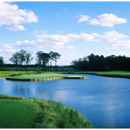 Pond in a golf course Carolina Golf and Country Club Charlotte North Carolina USA Poster Print