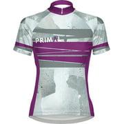 Primal Wear Clean Slate Women's Cycling Jersey: Gray/Purple, MD