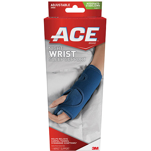 ACE Night Wrist Sleep Support, One Size Adjustable, 209626