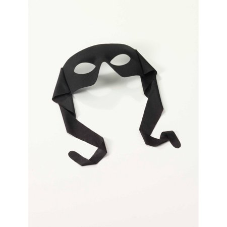 - Masked Man Mask-Black With Ties