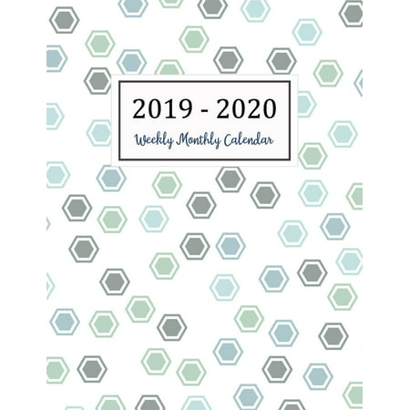 Monthly Calendar Planner 2020 2019 2020 Calendar: Two Years   Daily Weekly Monthly Calendar