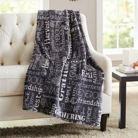 Better Homes And Gardens Harvest Velvet Plush Throw Blanket