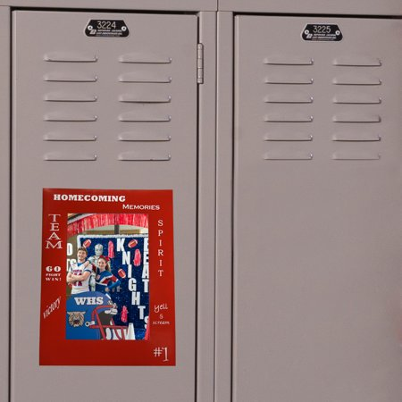 Homecoming Photo Ideas (Red Homecoming Wishes Frame)