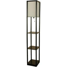 Hometrends welgrove wood floor lamp walmart mainstays black shelf floor lamp with white shade onof mozeypictures Gallery