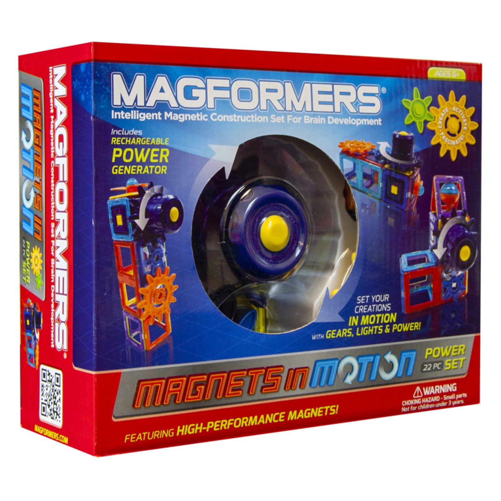 Magformers Magnets in Motion 22 Piece Magnetic Construction Set by Magformers