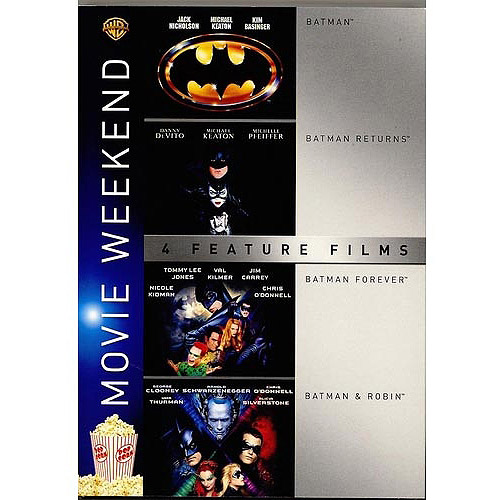 4 Film Favorites: Batman / Batman Returns / Batman Forever / Batman & Robin (Widescreen)