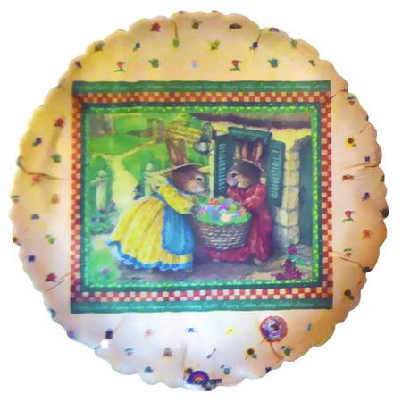 Holly Pond Hill 'Bunnies' Foil Mylar Balloon (1ct) - Bunny Balloons