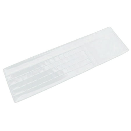Silicone Universal Computer Keyboard Skin Shield Protector Cover Clear 45 x 14cm/17.7