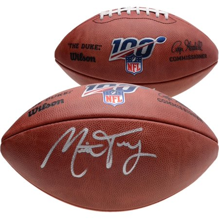 Mitchell Trubisky Chicago Bears Autographed Duke NFL 100 Pro Football - Fanatics Authentic Certified Mitchell Autographed Football