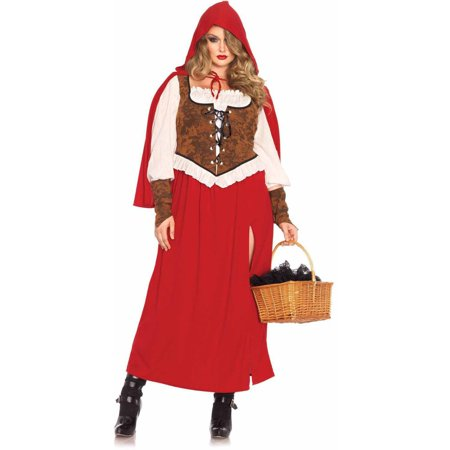 Leg Avenue Women's Plus Size Classic Woodland Red Riding Hood Costume ()