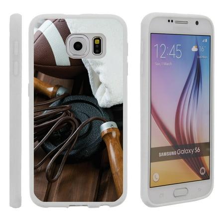 Samsung Galaxy S6 G920, Flexible Case [FLEX FORCE] Slim Durable TPU Sleek Bumper with Unique Designs - Football Training