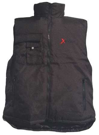 Insulated Vest,Mens,L,Black 5705-RLRGB