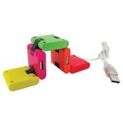 Made by Humans USB Hub 2.0 Four Port Extension Multi-Color