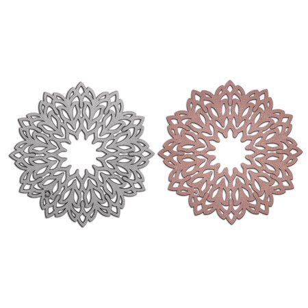 Copper Trivet - Trivet - DOUBLE SIDED Copper & Metallic Dove Grey - in Faux Leather, Elegant and Versatil, Easy Care