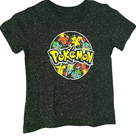 Pokemon Characters Pikachu Boy's T-Shirt Small 4