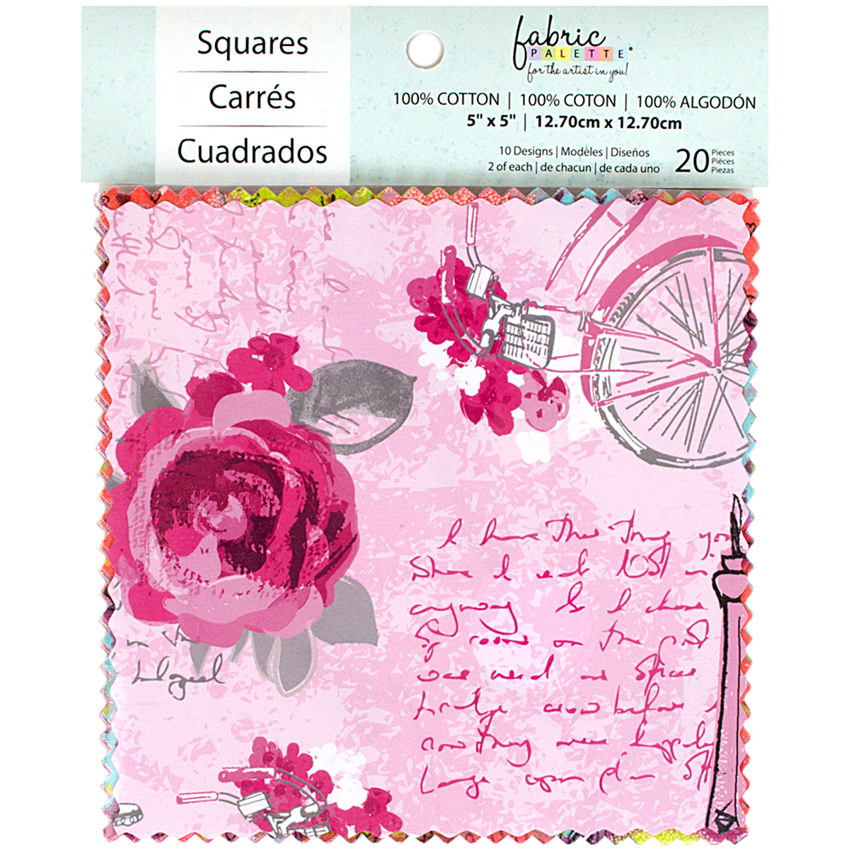 "Fabric Palette Charm Pack 5""X5"" 20/Pkg-Summertime In Paris"