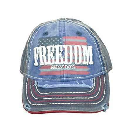Farm Boy Patriotic Freedom Kids Mesh Hat-m/l - Farm Hats