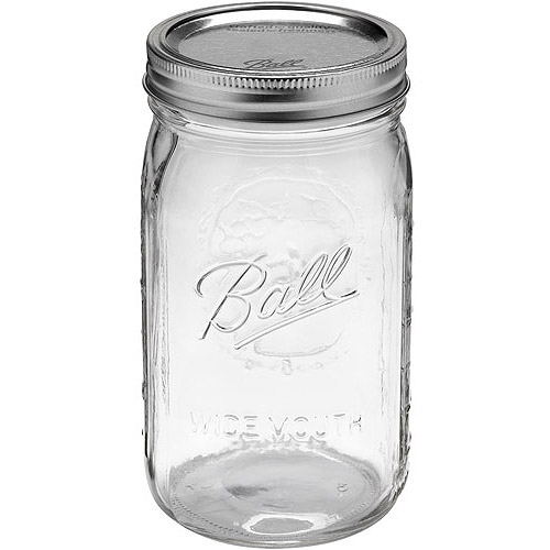 Ball 12-Count Wide Mouth Quart Jars with Lids and Bands
