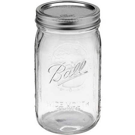 Ball Glass Mason Jar With Lid And Band Wide Mouth 32 Ounce 12