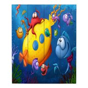 DiaNoche Designs Sea Life by Tooshtoosh Painting Print Plaque