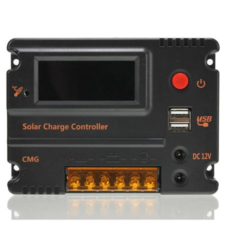 20A 12V-24V LCD Display PWM Solar Charge Controller Solar Panel Battery Intelligent Regulator Overload Protection Temperature