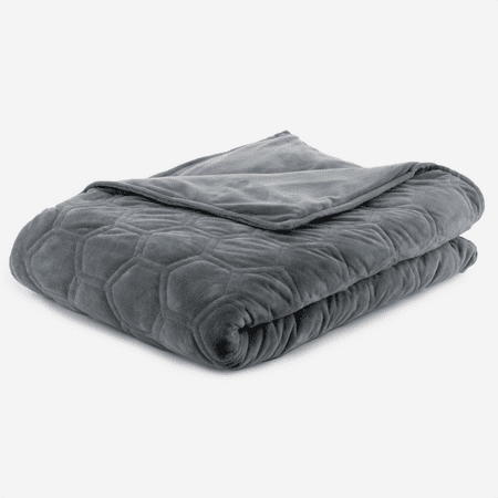 """DensityComfort 48x72"""" Minky Dot Duvet Cover - Grey and Blue for Weighted Blanket   Machine Washable"""