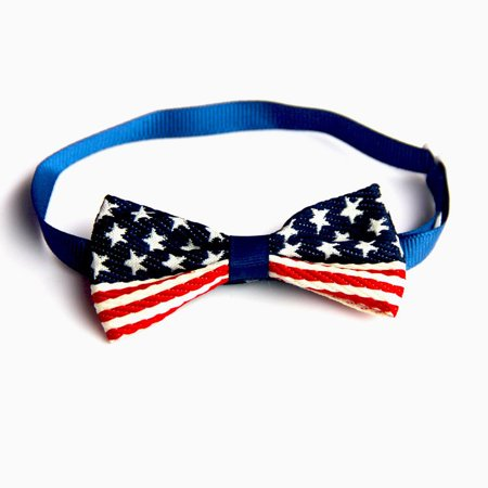 Brand New Flag Printed Pets Cats Dogs Tie Wedding Accessories Dogs Bowtie Collar - image 1 of 5