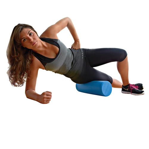 Champion Exercise Firm Foam Roller, Blue - 18'' x 6''