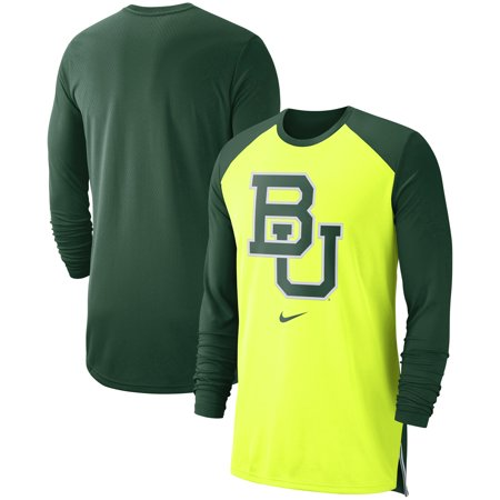 69d9fa3f Baylor Bears Nike On-Court Basketball Elite Performance Long Sleeve T-Shirt  - Yellow
