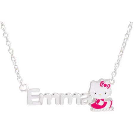 """Personalized Hello Kitty Sterling Silver Name Necklace, 16"""""""