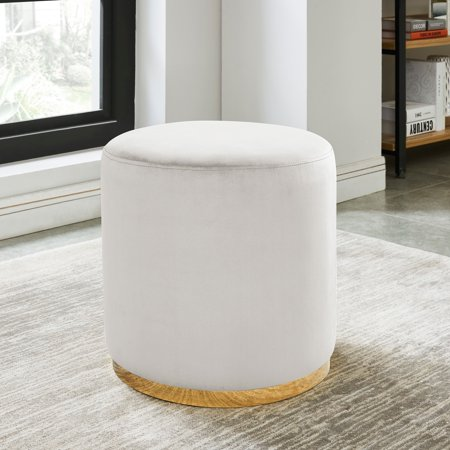 Awesome Nspire Round Velvet Ottoman Beatyapartments Chair Design Images Beatyapartmentscom