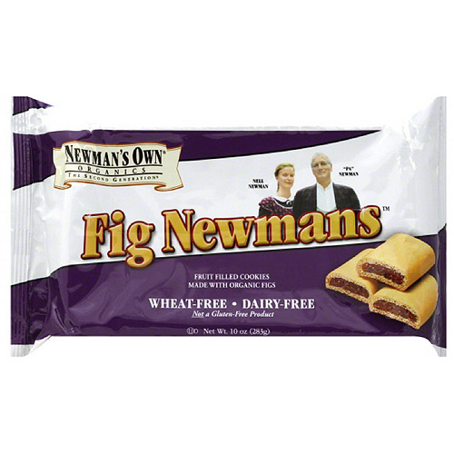 Newman's Own Organics Fig Newmans Wheat-Free Dairy-Free Cookies, 10 oz, (Pack of 6)