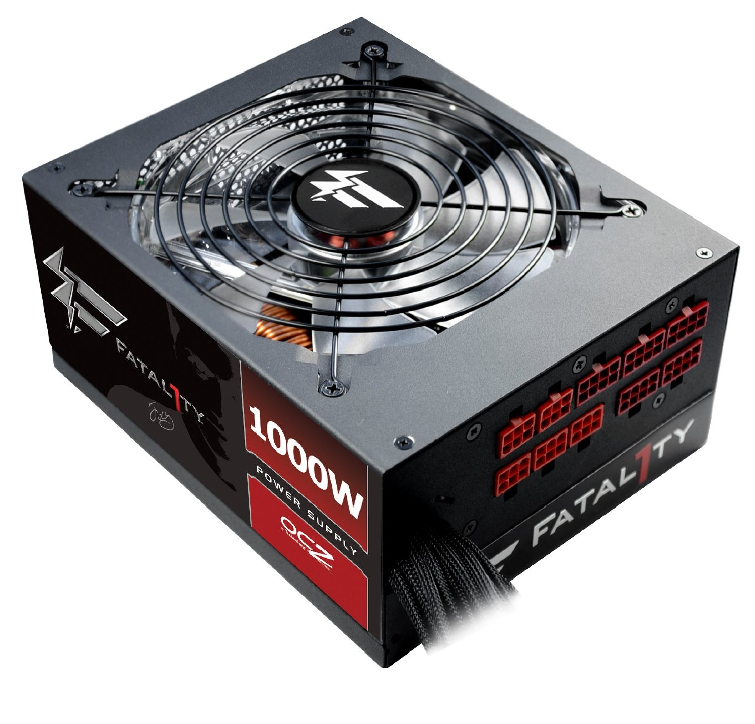 FirePower Fatal1ty 1000W 80Plus Gold Individually-Sleeved Semi-Modular Gaming ATX PC Power Supply FTY1000W, formerly PC