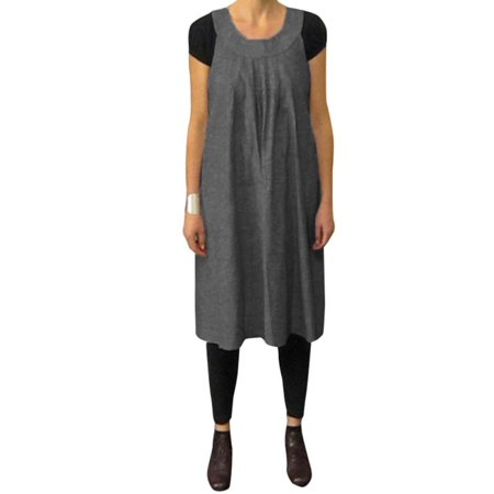 8adfab4cc78 VONDA - Sleeveless Maternity Dress Loose Round Collar Back Tie For Women -  Walmart.com
