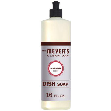 (3 Pack) Mrs. Meyer's Clean Day Dish Soap, Lavender, 16 Fl Oz
