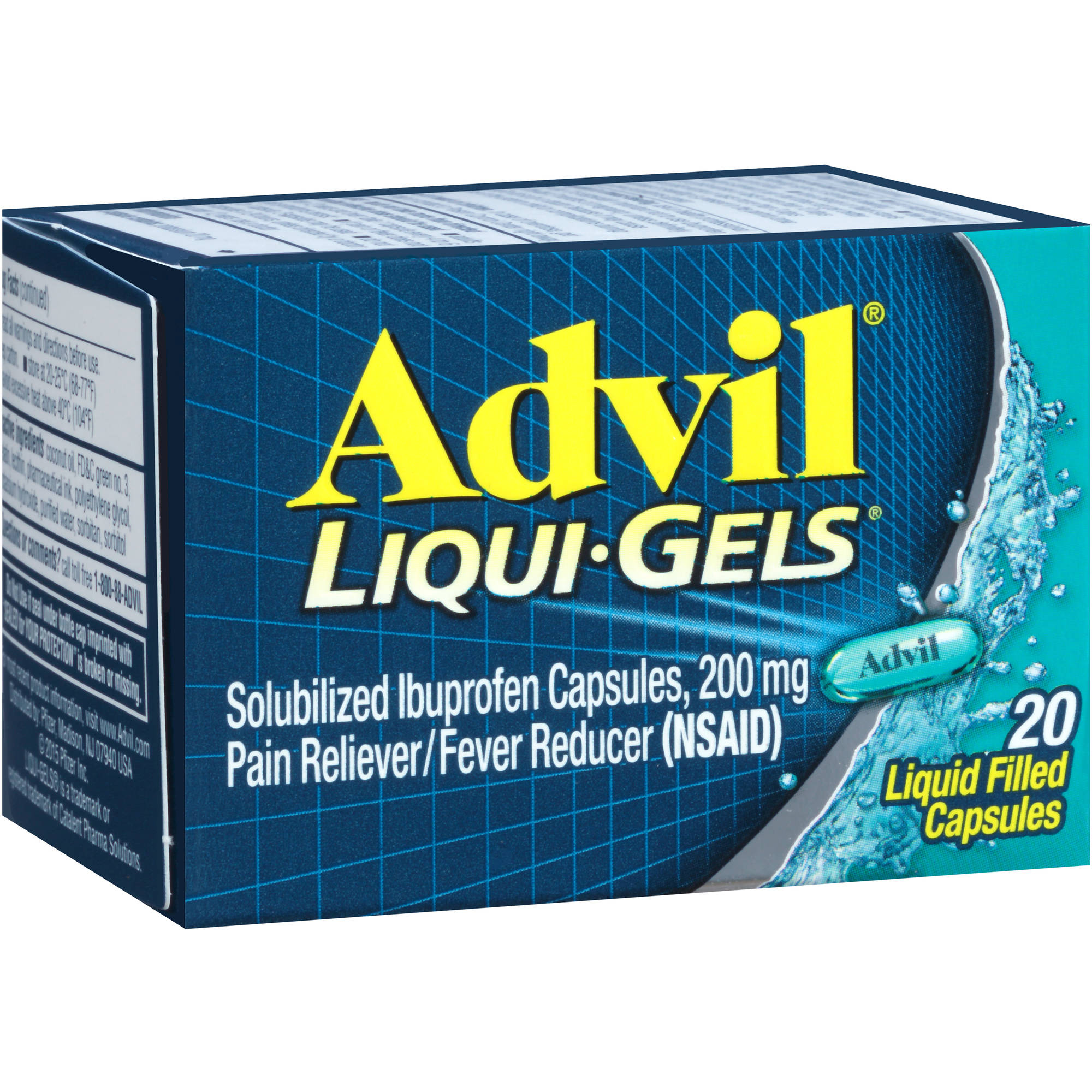 Advil Liqui-Gels Pain Reliever / Fever Reducer (Ibuprofen), 200 mg 20 count