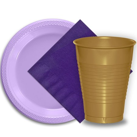 Disposable Wedding Plates Cups And Napkins (50 Lavender Plastic Plates (9