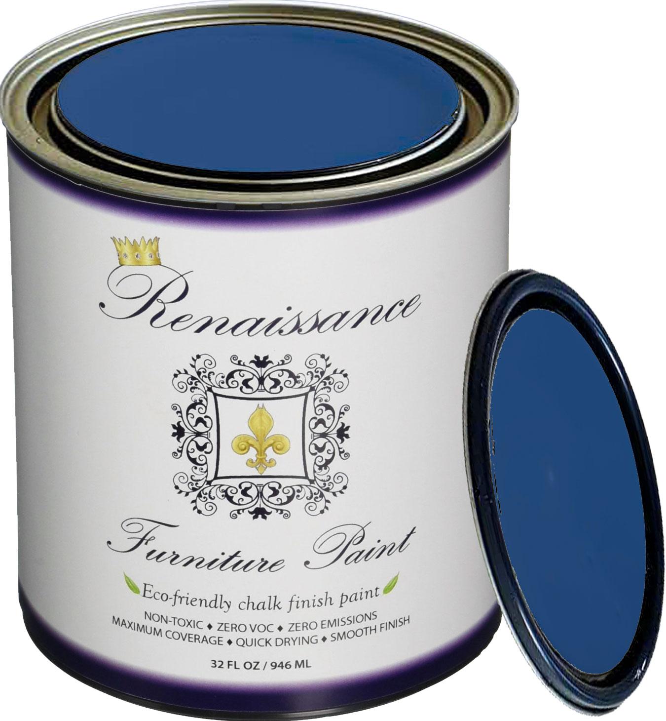 Renaissance Chalk Finish Paint - Chalk Furniture & Cabinet Paint - Non Toxic, Eco-Friendly, Superior Coverage - Ivory Tower (32oz)