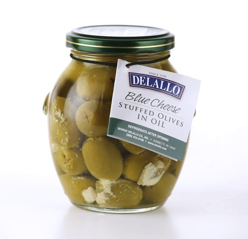 DeLallo Stuffed Olives, Blue Cheese, 13.1 Oz by DELALLO