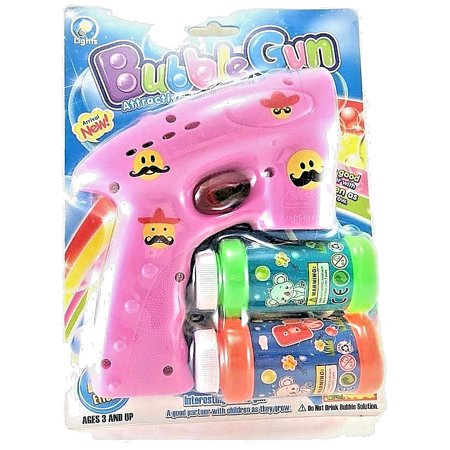 Emoji Bubble Shooter Gun With Sirens And Led Light  2 Bubble  Asst Color