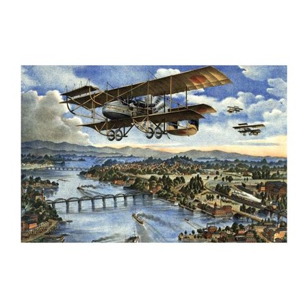 Japanese Plane In The Siberian Intervention Print  Unframed Paper Print 20X30